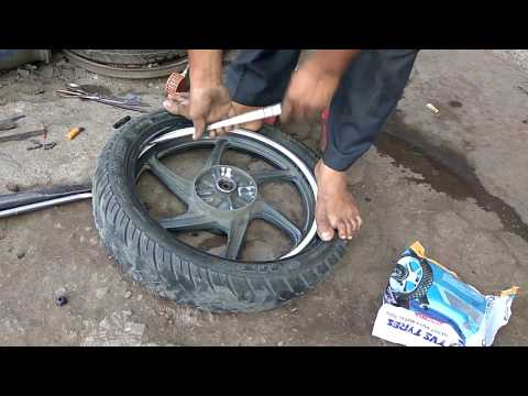Amazing Skill Conversion of Tubeless Tire into Tube Tire