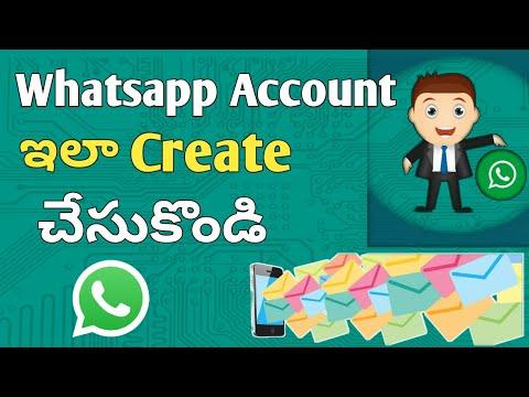 How to create whatsapp account in telugu|create whatsapp in telugu 2018|whatsapp in telugu 2018