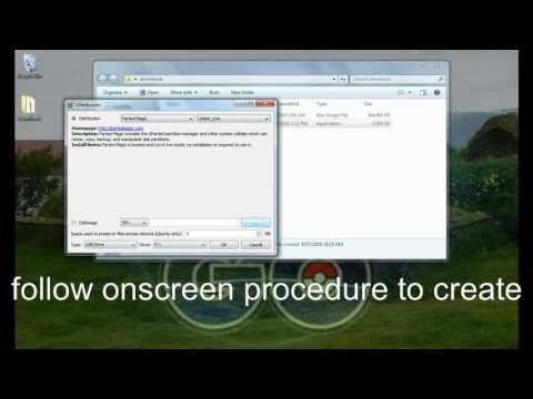 Creating a bootable partedmagic usb drive