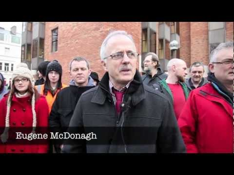 Eugene McDonagh at Employment Appeals Tribunal before winning!