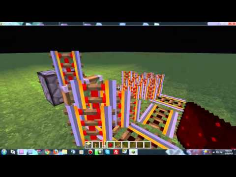 How To Make A Powered Rail Generator-Minecraft