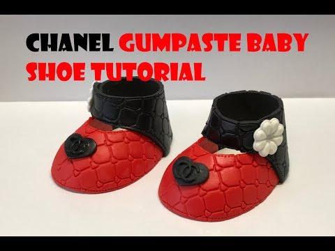 CHANEL GUMPASTE BABY SHOE TUTORIAL