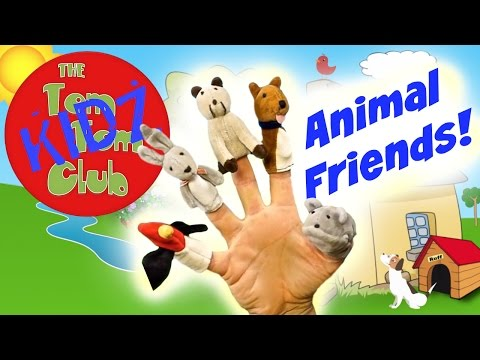 Animals Finger Family Song - Animal Friends Nursery Rhyming Song!