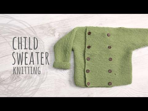 Tutorial Knitting Child Sweater