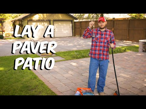 Build With Roman - How To Lay a Paver Patio