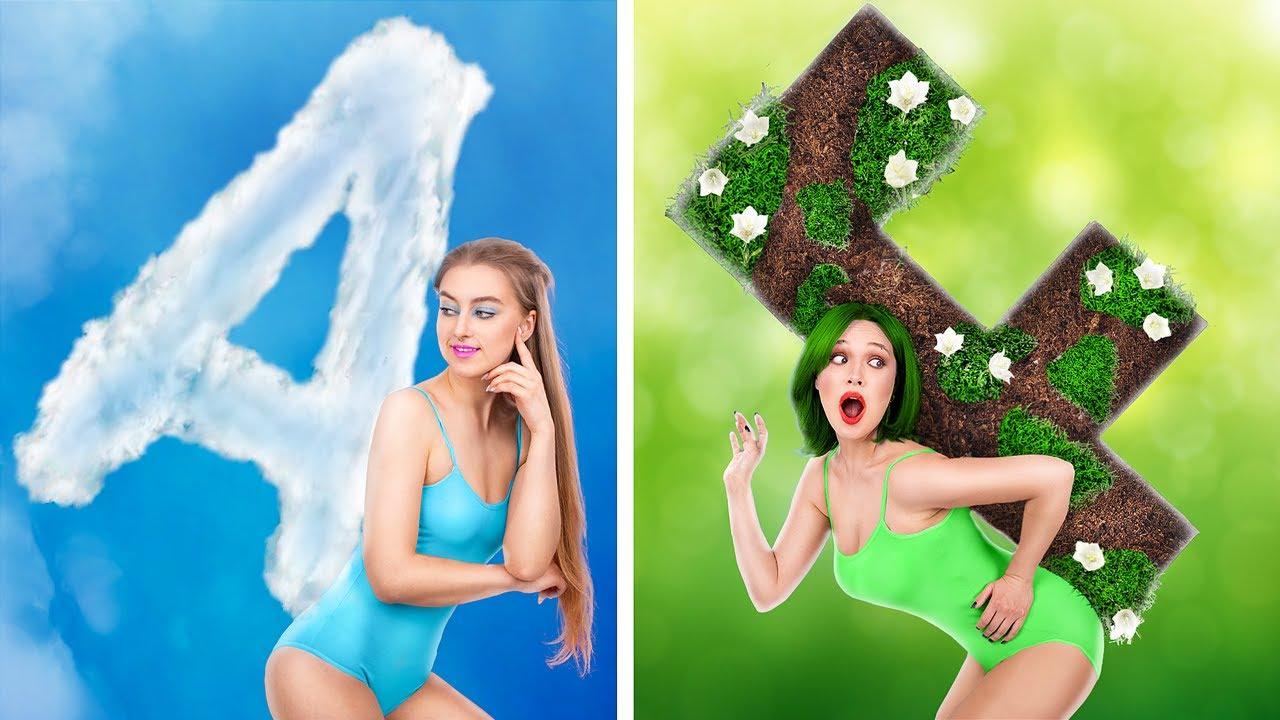 Chica del Cielo vs Chica de la Tierra / ¡Cosas Extrañas que Hacen las Chicas Cuando se Enamoran!