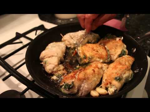 Stuffed Chicken Breast with Spinach and Goat Cheese