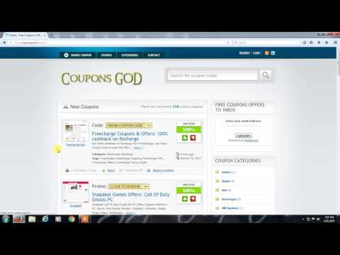 Free Coupons | Offers| Promo Codes @ CouponsGOD.IN