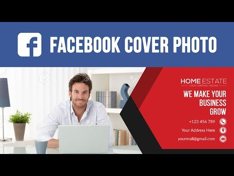 How To Make Facebook Cover Photo Design in Photoshop CC - Photoshop Bangla Tutorial