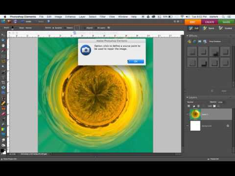 Create a Tiny Planet in Photoshop Elements