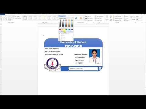 How To Make ID Card Design In Ms Word Urdu Tutorial