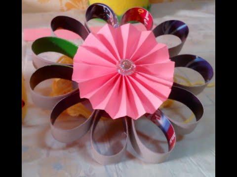 Creative Ideas DIY Cardboard Flower Christmas Ornament - Tutorial .