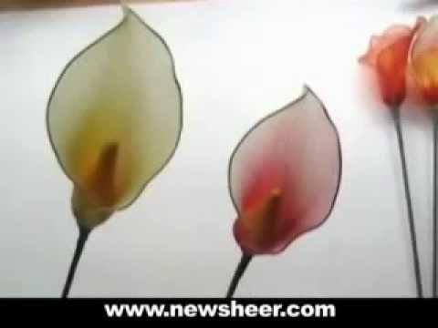 How to Make Nylon Stocking Wedding Flower- Calla Lily