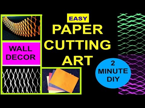 Easy PAPER ART DECOR | In under 2 MINUTES!! | JAPANESE PAPER ART | Kirigami