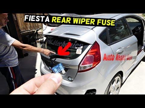 FORD FIESTA REAR WIPER FUSE LOCATION MK7 ST