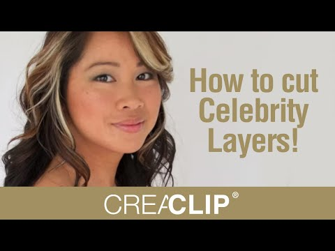 How to cut Celebrity Layers! Layer cut your own hair!