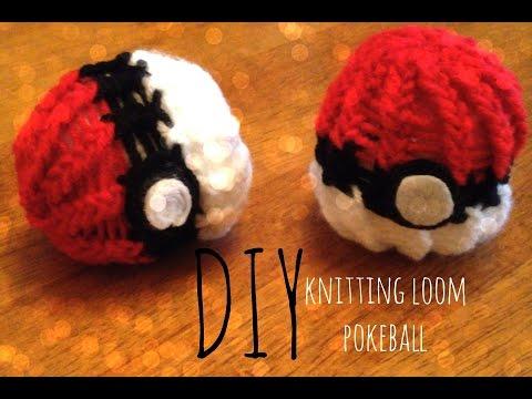 DIY Pokeball knitting loom