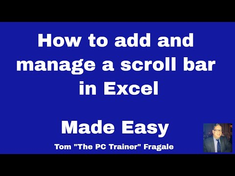 Excel Scroll Bar - How to add a scroll bar control to Excel 2016 2013 2010 tutorial