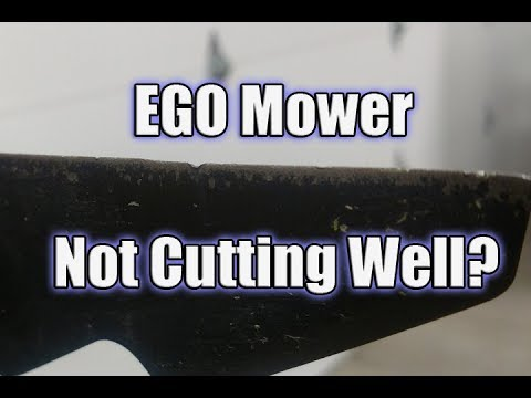 How to Sharpen Your EGO 56V Lawn Mower Blade | Not Cutting Each Blade of Grass