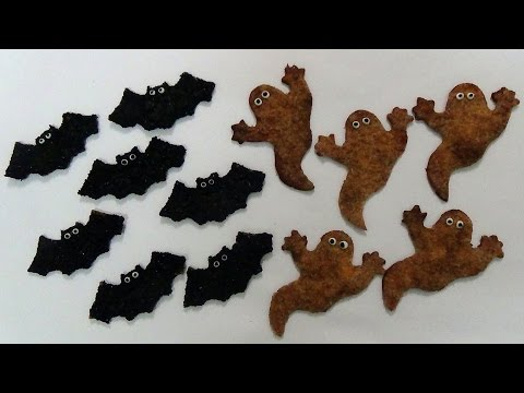 how to make bats and ghost tortilla crisps
