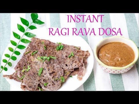 Instant Ragi Rava Dosa || Ragi Dosa || Ragi Finger millet recipes || Indian Breakfast