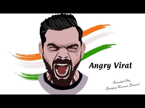 Angry Virat | Speed Art | #Ai-49