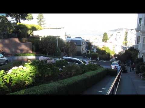 Cars Driving Down Lombard Street in San Francisco