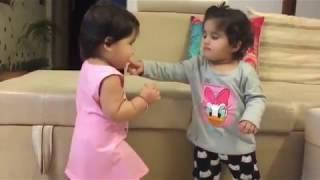 Karanvir bohra twins Miko and Nonu Cute Video