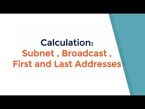 شرح حساب Calculation: Subnet , Broadcast , First and Last host Address