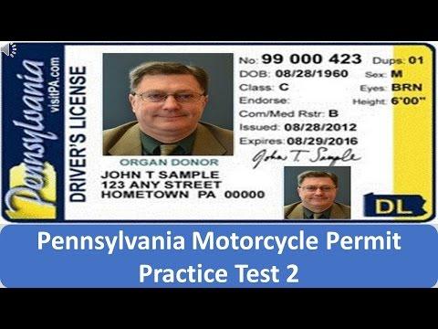 Pennsylvania Motorcycle Permit Practice Test 2