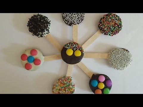 Oreo Cookies lollipops recipe in Hindi (Children's Day recipe) By sneha kitchen