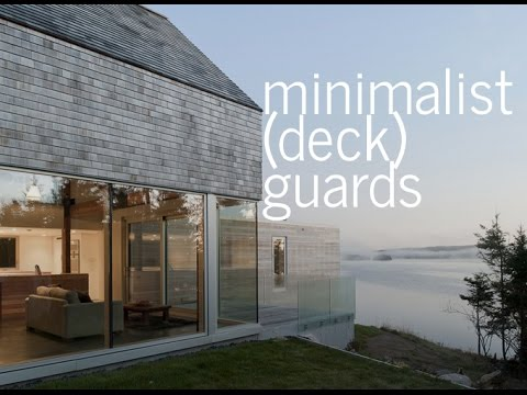 Minimalist (Deck) Guardrails - modern ideas, materials, + options
