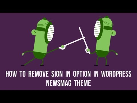 How to Remove Sign In Option in WordPress Newsmag Theme