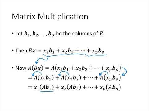 Linear Algebra - Lecture 21 - Matrix Operations