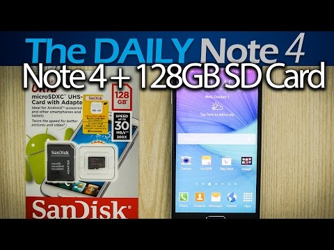 Samsung Galaxy Note 4 + 128GB micro SDXC SanDisk Test