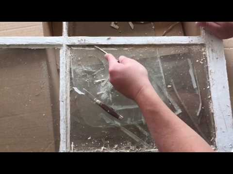 Removing Glass From An Old Window
