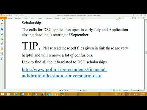 A complete guide to Politecnico di Milano Merit and Financial Aid Scholarships