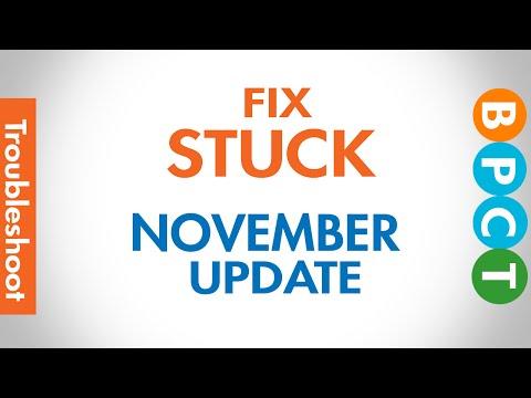 Fix stuck Windows 10 November Update Problem