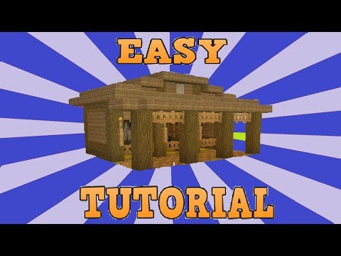 Minecraft Easy Small Horse Stables Tutorial