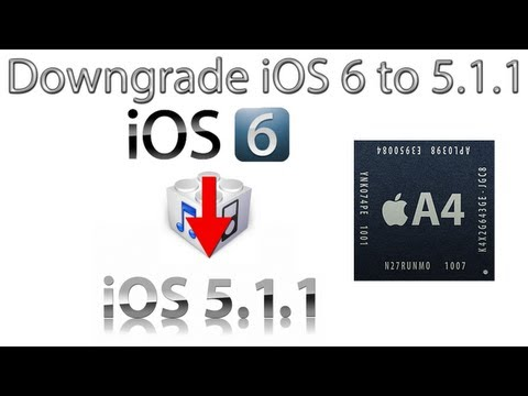 How To Downgrade iOS 6 to iOS 5.1.1 For Untethered Jailbreak (A4 And Below Devices)