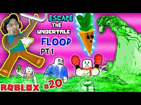 Roblox Flood Escape Undertale Drowning Sick Town Fgteev - who peed in deadpool roblox superhero tycoon magic kill quests boss spawns fgteev 17