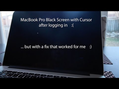 MacBook Pro Black Screen with Cursor After Login