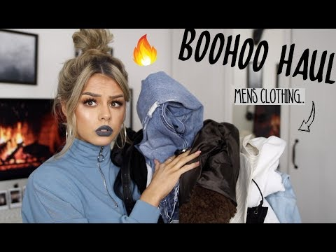 I WEAR AND STYLE MENS CLOTHES (& WOMENS TOO TEHE) | TRY ON STYLING BOOHOO HAUL