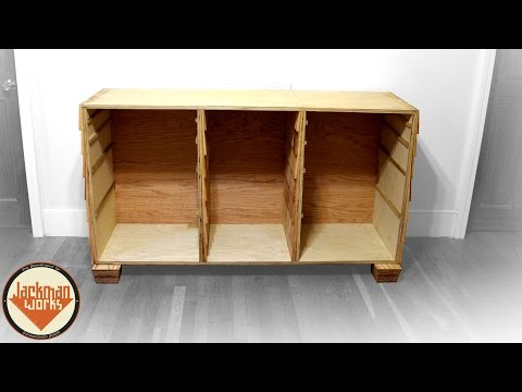 Building Cabinet Frame and Drawers (1/4)