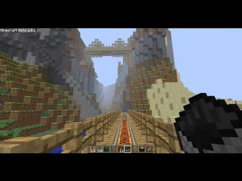 Minecraft: Roller Coaster in Creative Mode