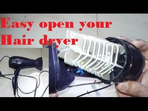 Easy open your hair dryer