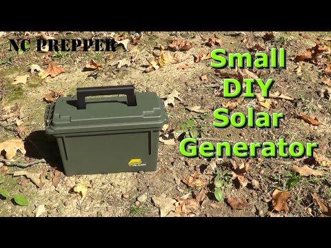 Small DIY Portable Solar Generator