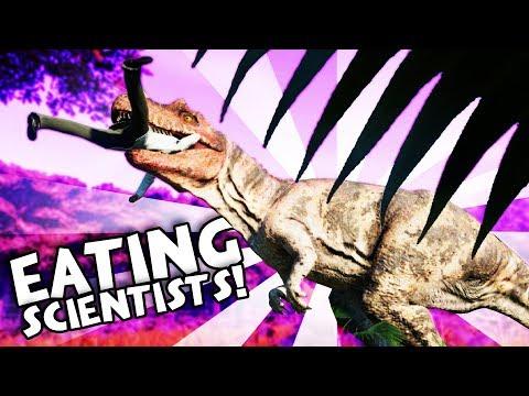 MASSIVE DINO EATS SCIENTISTS! - Jurassic World Evolution Gameplay - Jurassic Park Builder
