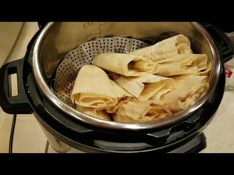 Tamales in Instant Pot pressure cooker