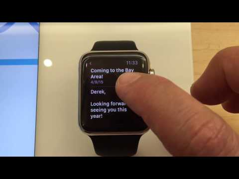 Navigating email on Apple Watch